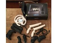 Nintendo Wii Black with lots of accessories