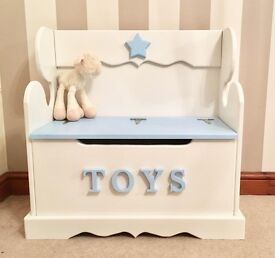 Personalised Childs Boys Monks Bench / Toy Box-FREE DELIVERY