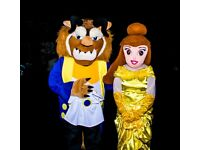 beauty and the beast mascot costume in derby
