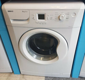 x487 white beko 8kg 1200spin washing machine comes with warranty can be delivered or collected