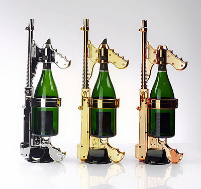 GOLD Champagne GUN! First in the USA! Includes 750 ML Adaptor