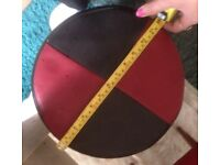 red and black ottoman