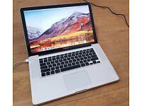 Macbook Pro 15 inch late 2011 - 2012 laptop SSD 16gb ram memory Intel Quad Core i7 processor