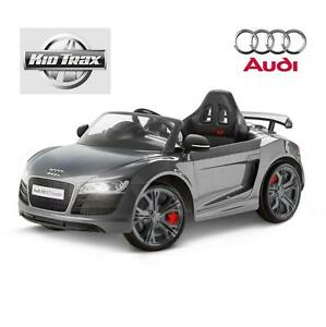 NEW* KID TRAX 6V RIDE ON AUDI TOY RIDE-ON Audi R8 Spyder GT 6 Volt Powered Grey RIDE-ONS TOYS OUTDOORS 108282572