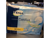 New unopened Tena Pads, Extra & Normal, £7 per pack.