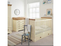 Brand new and boxed cot bed with understorage drawer and mattress