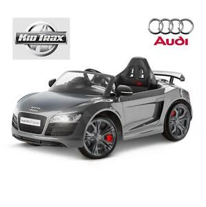 USED KID TRAX 6V RIDE ON AUDI TOY RIDE-ON Audi R8 Spyder GT 6 Volt Powered Grey 107075174