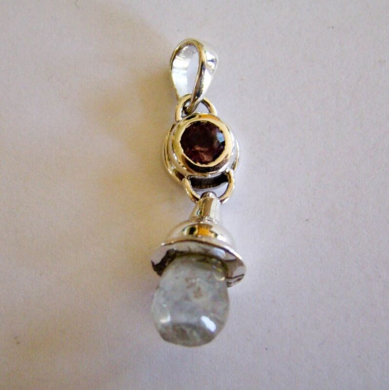 Sterling Silver Amethyst & Faceted Moonstone Pendant