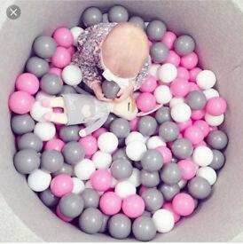 Grey jersey soft ball pit
