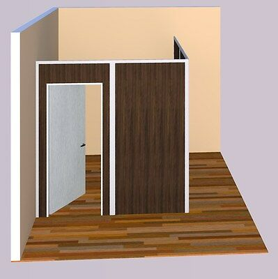 Sunwalls Modular Walls - 2 Walled L Shaped Room Of Standard Walls 8x8