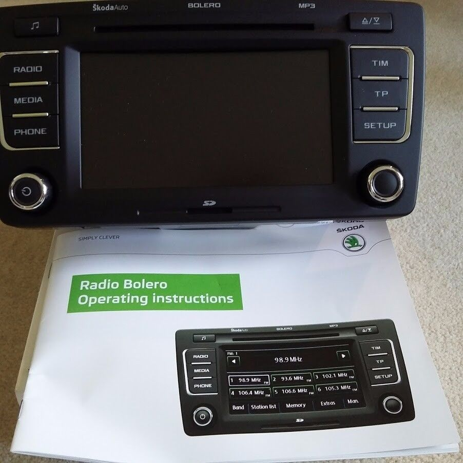 Skoda Radio Bolero CD Player car stereo, touchscreen, SD card