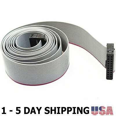 Bls 2.54mm Pitch Idc 20-pin Ff Connector Extension Flat Ribbon Cable 150cm Len