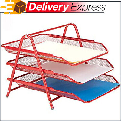 3 Tier Letter Tray Pull Out Drawer Organizer Folders Files Documents Mail