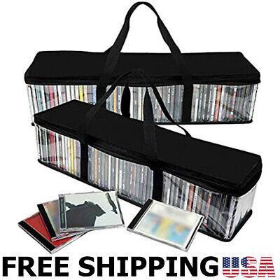 2 Set Portable CD Sturdy Storage Collection Bag/Moistureproof w/ Zipper Total 96