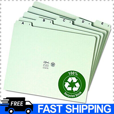 25 Set Of 100 Recycled Pressboard File Guides 15-cut Tab A-z Letter Size
