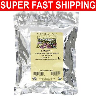Starwest Botanicals Organic Turmeric Root Powder, 1 Pound Bu