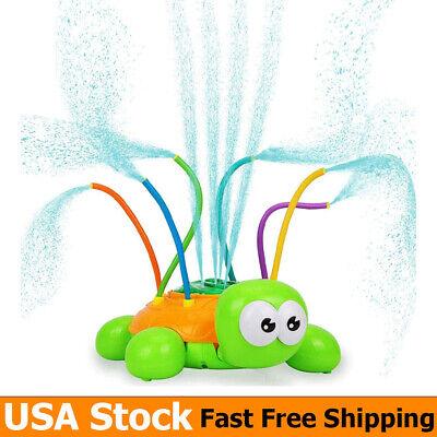 Water Sprinkler Toy Hydro Swirl Spinning Splash Turtle for Kids Toddlers Outdoor