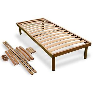 Rete letto montabile a doghe in legno ortopedica fissa - Rete letto legno ...