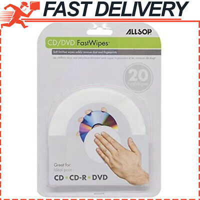 CD and DVD FastWipes, lint-free wipes for cleaning DVD, CD, PS1, PS2, XBOX & XBO
