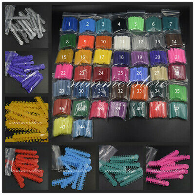 1040 Pcsbag Dental Orthodontic Elastic Rubber Bands Ligature Ties 44 Colors