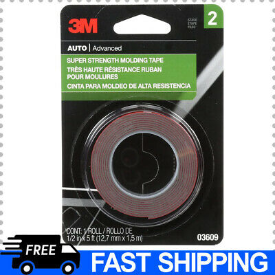 3m Universal Super Strength Molding Double Sided Tape Permanent 12x5
