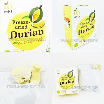 Healthy Snacks Ideas (5PCx30g THAI DURIAN CHIPS FREEZE DRIED FRUIT HEALTHY FOOD EASY EATING SNACK)