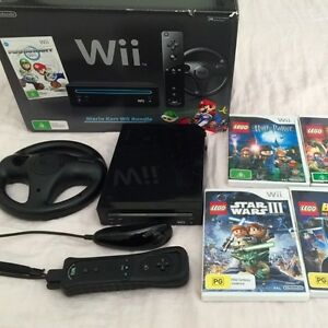 NINTENDO Black WII Boxed IMMACULATE & Star Wars game Daw Park Mitcham Area Preview
