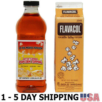 Flavacol Popcorn Seasoning Buttery Flavor Popcorn Topping Combo