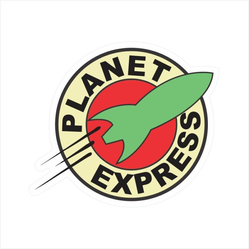 Planet Express Logo Window Bumper Laptop Window Decal Sticker BS-506027