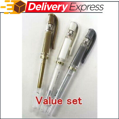 UNI-BALL SIGNO UM-153 GEL INK ROLLERBALL PENS BROAD TIP, Gold Silver White