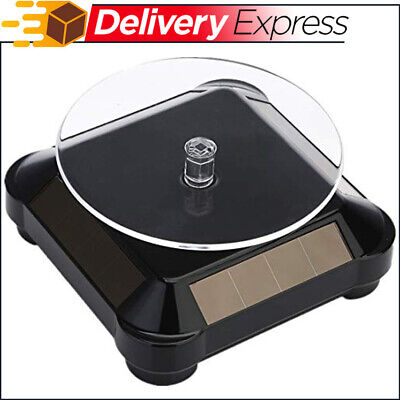 Solar Display Stand Turntablebattery Powered Rotating Stand For Jewelry Spinner