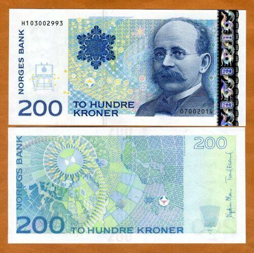Norway, 200 Kroner, 2014, P-50g, UNC