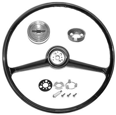 1960 1961 1962 1963 1964 1965 1966 CHEVROLET TRUCK BLACK STEERING WHEEL KIT NEW