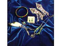 Native American Sterling/Malachite Earrings