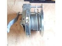 Hand winch, trailer loading, hoisting etc 1500 pounds line pull