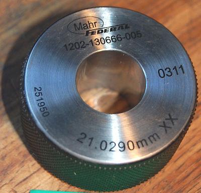Mahr Federal 21.0290mm Xx Master Bore Gage Setting Ring Calibration Hole