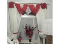 Voile curtains and swags