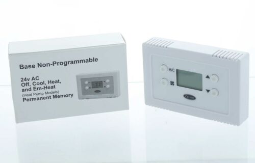 Carrier Base Series 24v AC Off, Cool, Heat,& Em-Heat Non-Programmable Thermostat