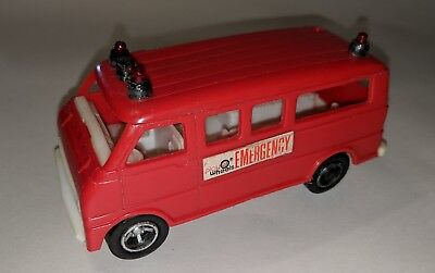 - PLAY WHEELS ARCO  Rescue Ambulance Red PLASTIC TOY CAR 1970's