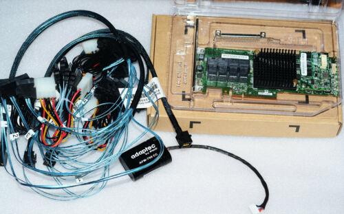 Adaptec ASR-71605 16-Port 6Gb/s 1GB SATA PCIe RAID + 8643 TO sata*4 cable