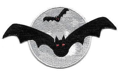 Bat - Vampire - Gothic - Halloween - Full Moon - Embroidered Iron On Patch ](Full Moon Halloween)