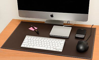 Computer Leather Desk Pad Stylish Mat Cover Reversible Color Design Brown To