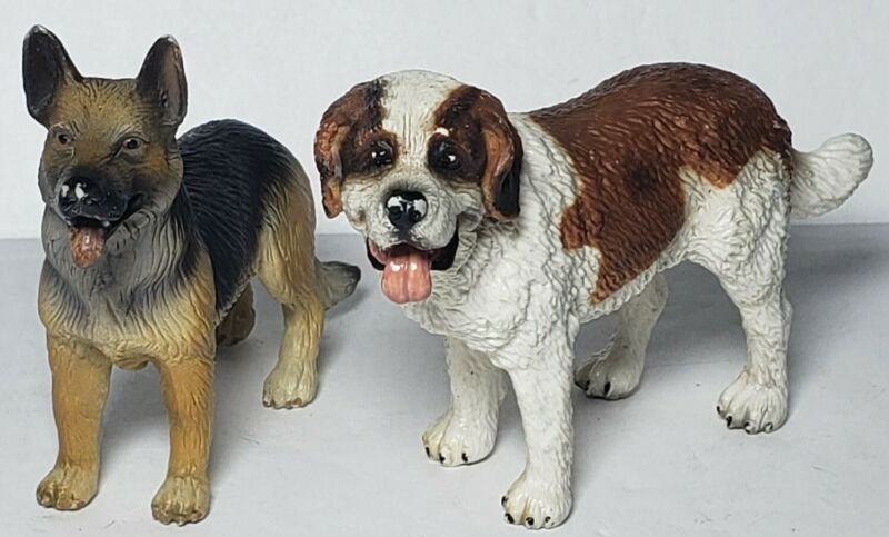 Schleich SAINT BERNARD & German Shepherd Dogs Figures Use