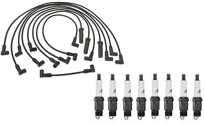 Professional Ignition Wire Set & 8 ACDelco Spark Plugs Kit For Chevy Pontiac V8