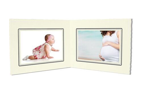 Cardboard Photo Folder For Double 4x6 Photo (Pack of 50) GS003 Ivory Color