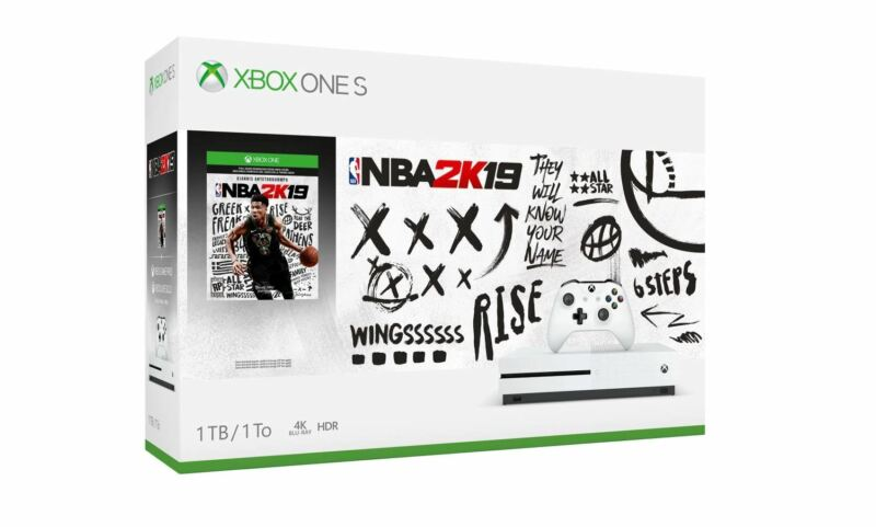 Microsoft Xbox One S Console 1TB - NBA 2K19 Bundle