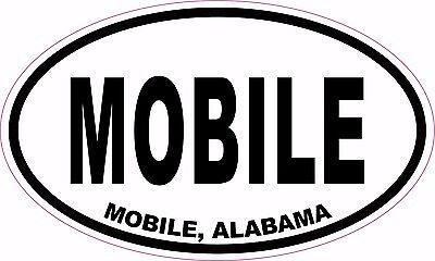 MOBILE ALABAMA AL oval vinyl sticker decal 5x3 Alabama Oval Sticker Decal