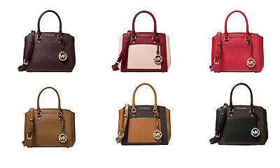 🦋MICHAEL KORS Park Medium Saffiano Satchel Leather tote Bag logo