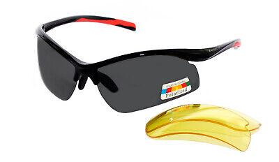 Rainbow gafas de sol Polarizadas Deporte Cristales Intercambiables 3296R Negro