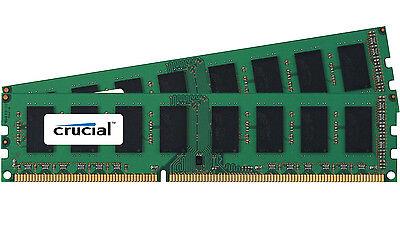 Crucial 8GB Kit 2x 4GB DDR3 1600 MHz PC3-12800 Desktop Memory RAM uDimm DDR3L